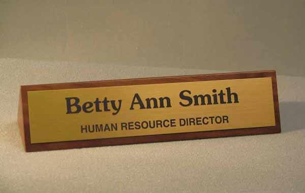 Walnut Desk Name Plate